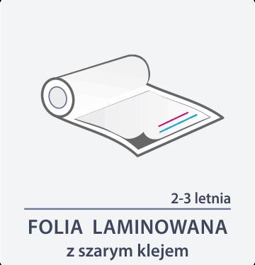 folia laminowana z szarym klejem Drukarnia DGprint.pl