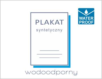 plakat syntetyczny wodoodporny drukarnia DGprint.pl ikona b