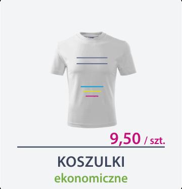 ikona koszulki ekonomiczne białe Drukarnia DGprint.pl