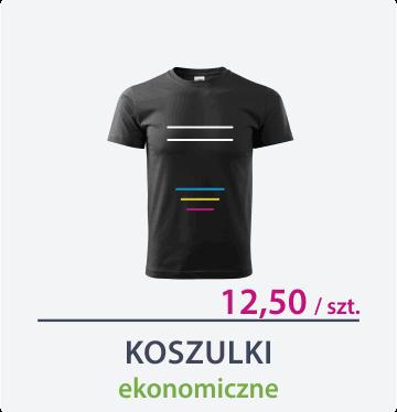 ikona koszulki ekonomiczne czarne Drukarnia DGprint.pl