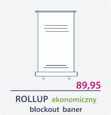 rollup ekonomiczny Drukarnia DGprint.pl